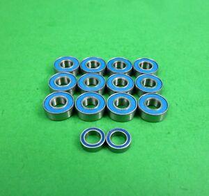 Rubber Metal Ball Bearings Set For TAMIYA RC 58668 Volkswagen Type 2 M06 BLUE
