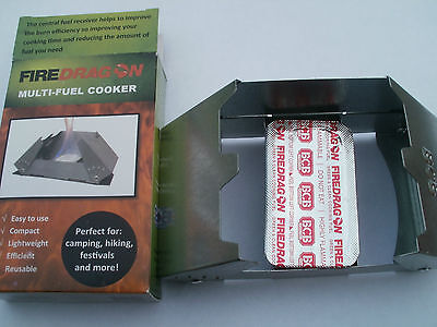 Fire Dragon Solid Fuel Cooker & Fuel - Hexi Replacement - 1x 6 Tablets -