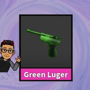 MM2 Green Luger Godly Weapon - Roblox In Game Item - Very Rare - Quick Delivery