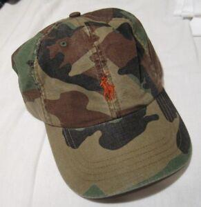 0074f25fa Polo Ralph Lauren Camo Cotton Chino Cap NWT 789023006649 | eBay