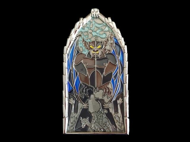 Disney DLR Pin of the Month - Windows of Evil - Chernabog LE 2000 Pin