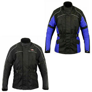 Mens-Motorcycle-Jacket-Winter-Long-Sleeve-Cordura-Armour-Rain-Waterproof-Coat