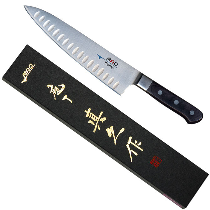 Japonais MAC MTH-80 Professional Series 8  couteau de cuisine avec Fossettes MADE IN JAPAN