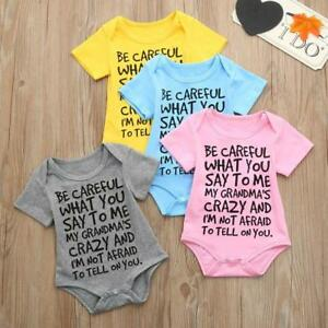 2d224743df Newborn Infant Baby Kids Girl Boys Print Romper Jumpsuit Outfits ...