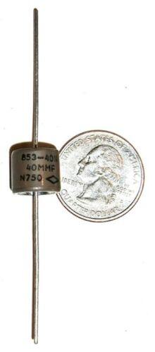 HV CRL #853-40N Doorknob 40 pF @ 5 KVDC Capacitor Transmitting New