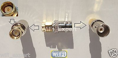 Adapter BNC female jack to SMA male plug RF connector straight Ships from USA