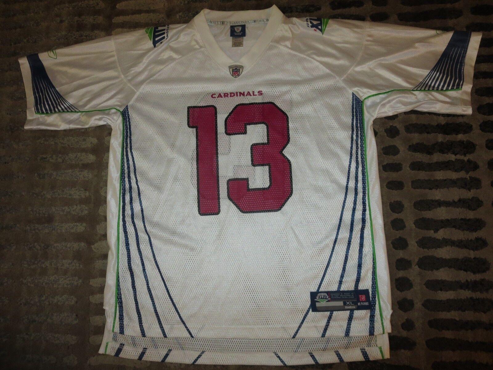 Kurt Warner  13 Arizona Cardinals NFL Super Bowl NFL Cardinals Reebok Trikot XL Herren 314afb