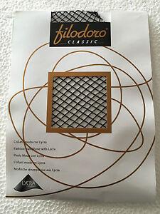 FILODORO-collant-macrorete-nero-88-poliammide-12-elastan-MADE-IN-ITALY