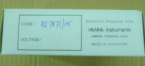 HANNA INSTRUMENTS HI 7871//115 LEVEL CONTROLLER