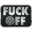 """INDEPENDENT F*CK OFF DECAL 4x3/"""" BLACK FOIL /& HANGLOOSE Limited Edition Stickers"""