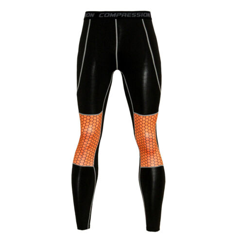 Mens Compression Athletic Leggings Running Basketball Training Gym Long Pants