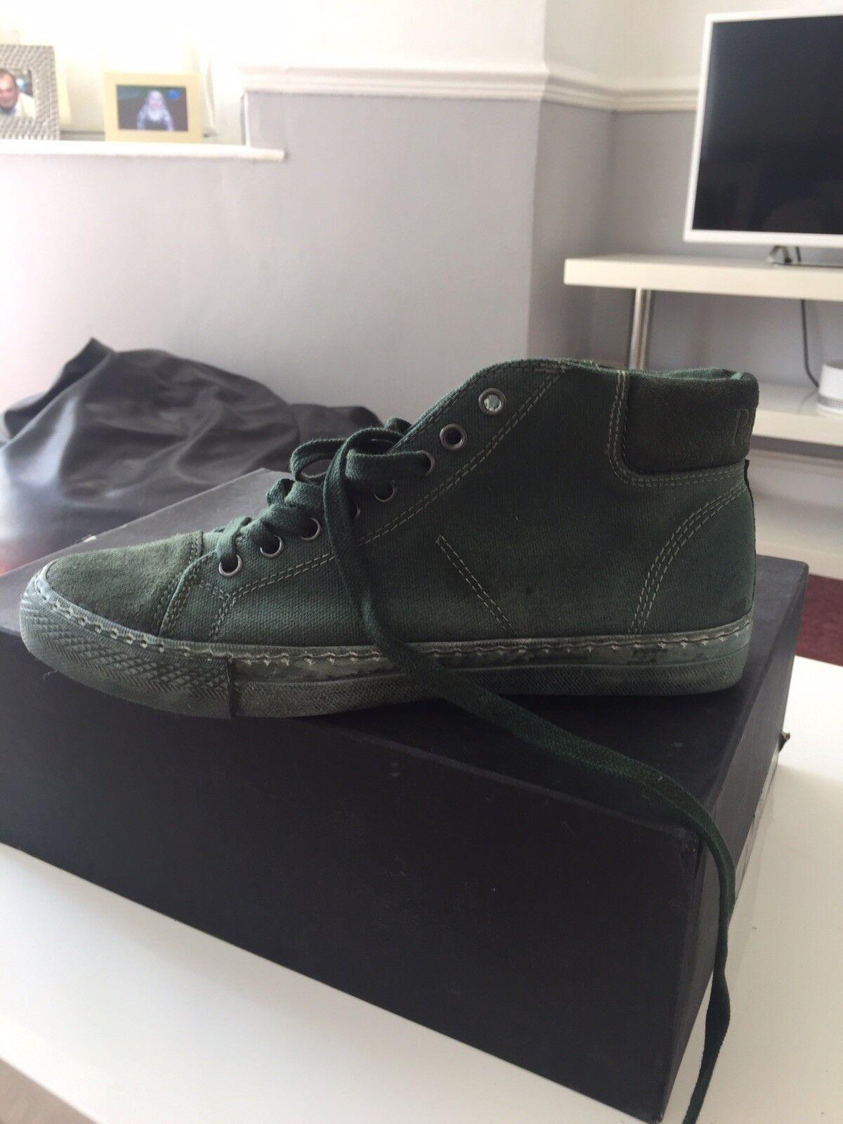 Pantofola Stivaletti d'oro Verde Tela Stivaletti Pantofola Taglia 8 666a64
