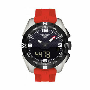 1b31bbaed81 Tissot T-touch Expert Solar Black Dial Red Rubber Men s Watch T0914204705700