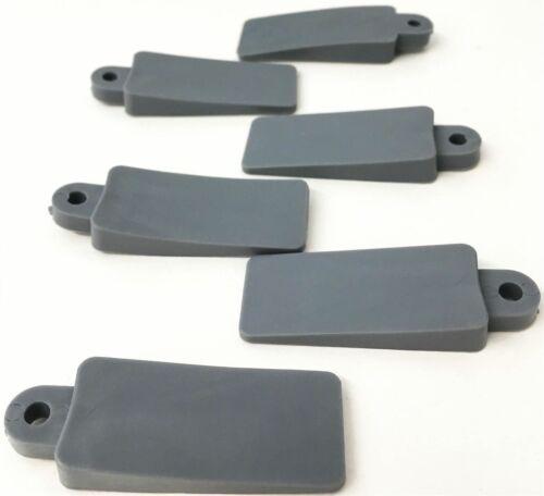 20 Soft Rubber Window Wedge Door Stopper Stop Stay Dark Grey Jam Lock Protective