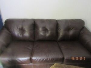 Brown Leather Sofa Gently Used Super