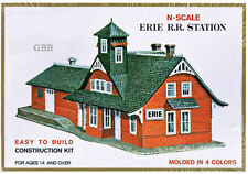 N Scale ERIE RAILROAD STATION Kit ihc New in Sealed Box MODEL POWER 1501