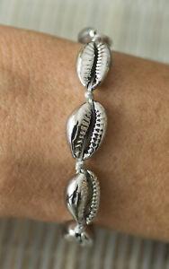 Bracelet-bresilien-Bahia-fil-coton-gris-perles-cauris-coquillage-chrome-21178