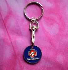 Paws2Rescue Trolley Token/Dog Tag Keychain