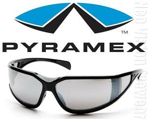 Pyramex Exeter Silver Mirror Anti Fog Lenses Safety Glasses Sunglasses Z87+