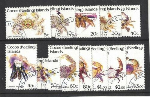 1992 Cocos Keeling Islands Crabs SG 25263 Set 12 CTO