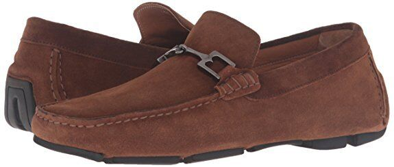 Bruno Magli Mens Monza Bit Loafer Driving Shoes Cognac Suede 11.5 NEW IN BOX