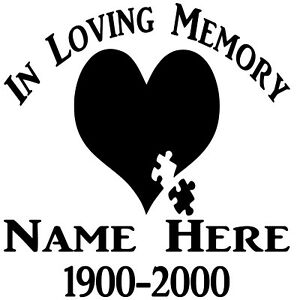 In Loving Memory RIP Vinyl Decal Sticker Graphic Personalized Custom Car Window