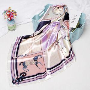 Luxury-Women-Fashion-Horse-Print-Scarf-Soft-Satin-Head-Shawl-Hijab-Wraps-35-034-35-034