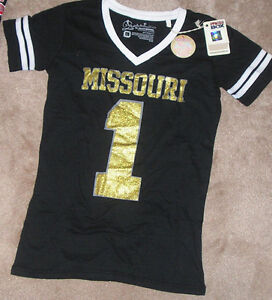 half off bbbd1 fd965 Image is loading NEW-NCAA-Missouri-Tigers-Jersey-Style-T-Shirt-