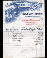 """VILLEMUR (31) USINE de PATES ALIMENTAIRES """"NOUILLETTES / BRUSSON"""" en 1934"""