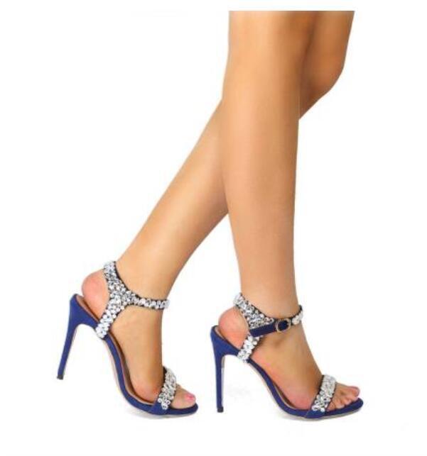 Womens Oxford Stilettos Pump Rhinestone Party Sexy High Heel shoes Uk Sz35-47\