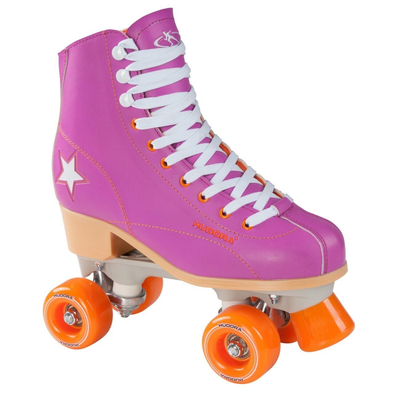 HUDORA Rollschuhe Roller Skate Disco Gr. 41 lila-Orange