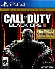 NEW Call of Duty Black Ops III 3 Gold Edition PlayStation 4 2016 $15 DLC Pack