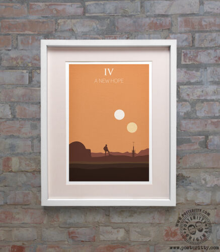 STAR WARS Episode IV A New Hope Minimalist Poster Posteritty Minimal Design