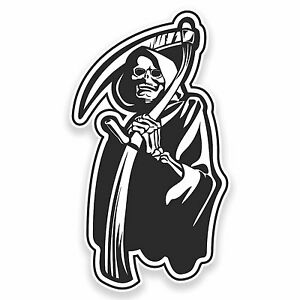 2 X 10cm Death Vinyl Sticker Decal Laptop Car Bike Skateboard Zombie