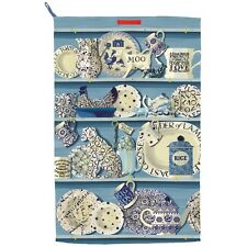 EMMA BRIDGEWATER BLUE DRESSER -  PLATES HENS DOG TEA TOWEL NEW WITH TAGS