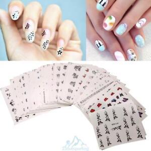 50Pcs-Nagelsticker-Nail-Art-Tattoo-Aufkleber-Blumen-Muster-Nagel-Fingernaegel-Hot