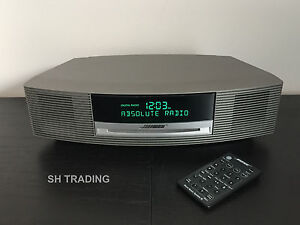 bose wave cd dab radio alarm clock titanium silver music system iii 3 ebay. Black Bedroom Furniture Sets. Home Design Ideas