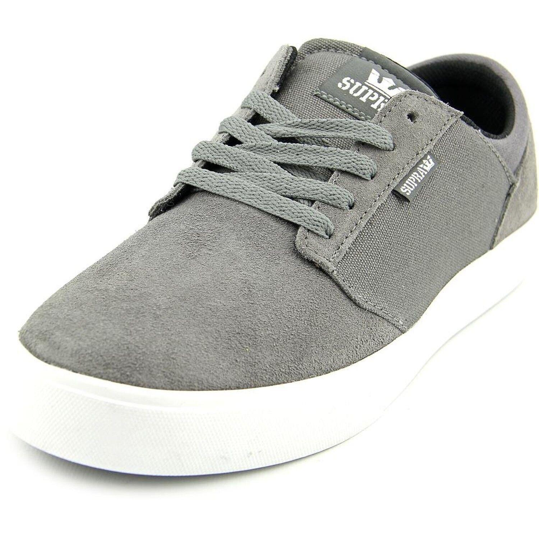 Supra Mens Yorek Low Charcoal Magnet White shoes Size 8.5