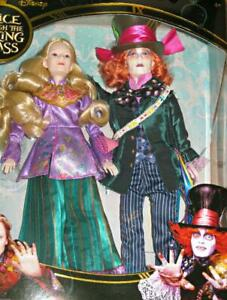 Disney-Alice-amp-Mad-Hatter-11-034-Collector-Dolls-Alice-Through-the-Looking-Glass