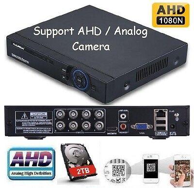 8Ch AHD Hybrid CCTV DVR 720P NVR Video Recorder for IP//AHD//Analog Camera 1TB HD