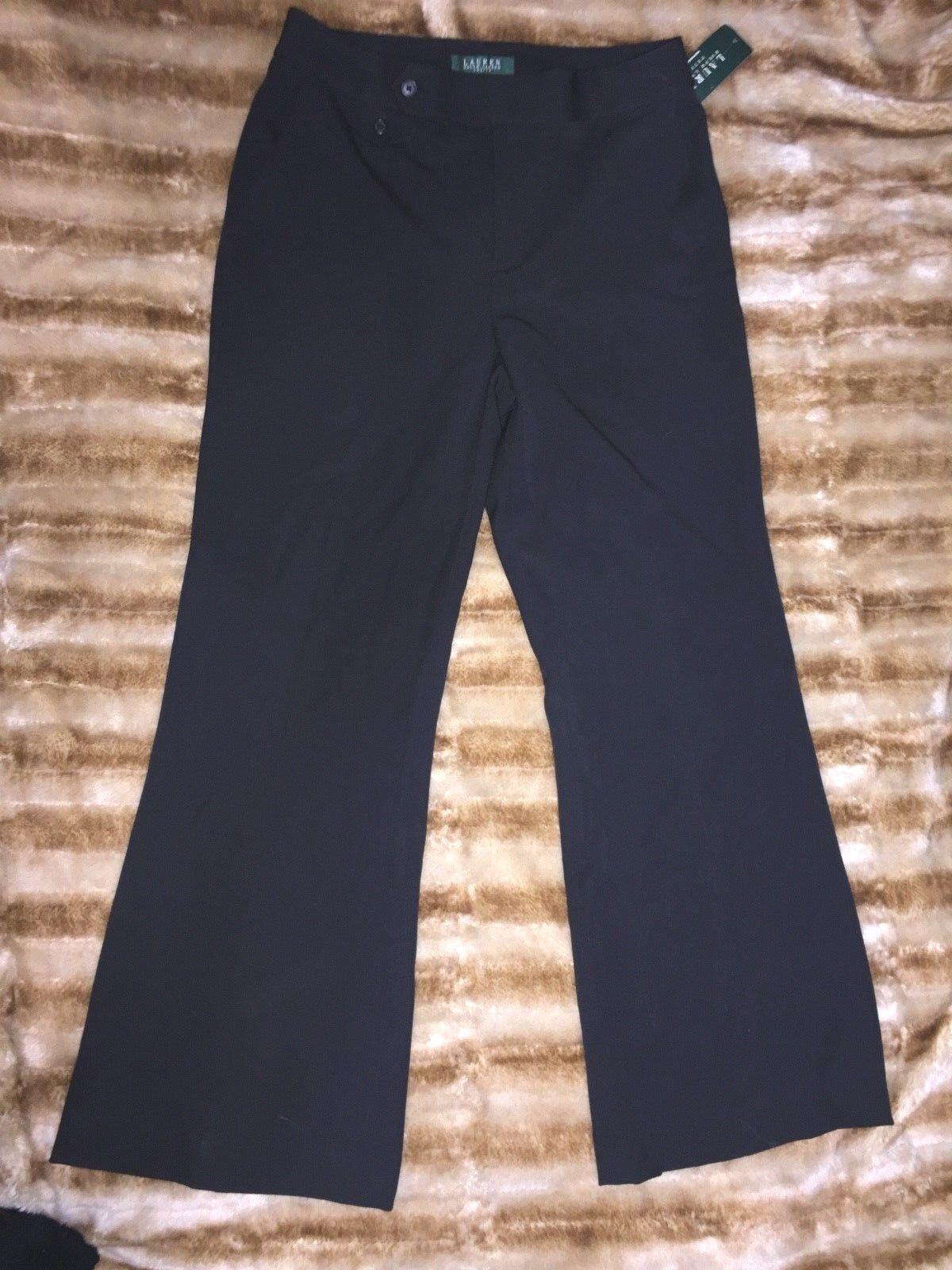 Ralph Lauren NWT Womens Boot Cut Wide Leg Dress Pants 8 Petites Nautical