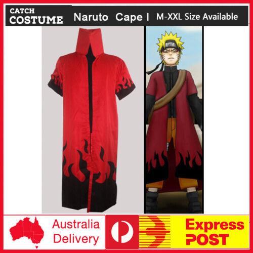 Naruto Anime Cosplay Costume Uzumaki Sage Uniform Cape Cloak Outfit