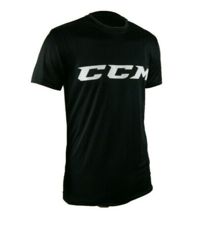 Details about  /CCM Hockey Core Tech Tee Black//White Youth//Child