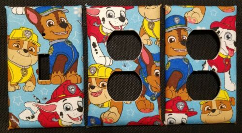 -FREE SHIPPING PAW PATROL LIGHT SWITCH COVER AND OUTLET PLATES CUTE AND FUN