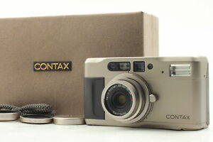 【MINT in Box】 Contax TVS 35mm Point & Shoot Film Camera w/ Data Back Strap JAPAN