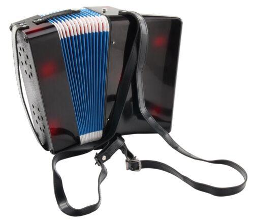 Top Kinder-Akkordeon mit 8-Bässen 17-Tönen Luftventil Tasche 2 Schultergurte