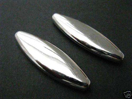 2 Acrylperlen glatt glänzend 40x12x6mm Perlen neu Beads 4714 K5