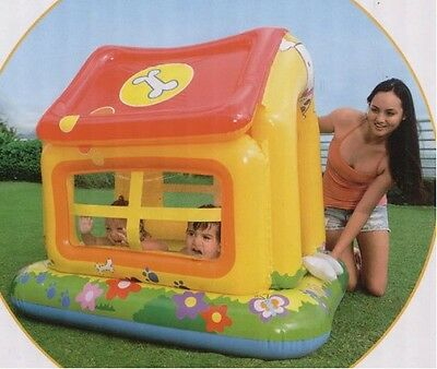 Childs kids toddlers puppy dog paddling pool house.Garden water pool