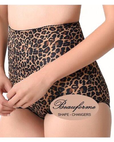 1//3//6 Pack of Ladies Leopard Print Medium Control Tummy Tuck /& Bum Lift Breif