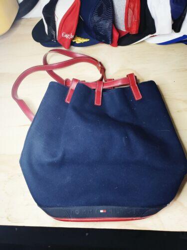 Vintage Tommy Hilfiger Blue Backpack straps Nap Sa